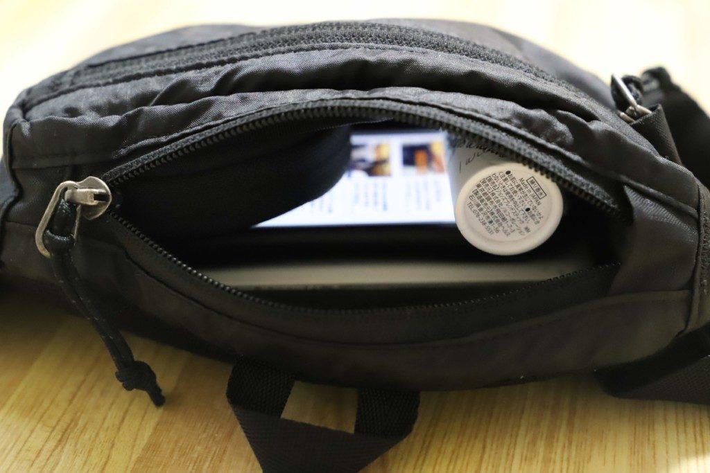 patagonia mini hip pack メインポケット 収納例